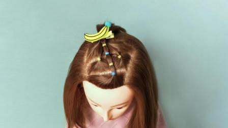 小学生发型女短发 女童可爱发型扎法