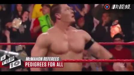 WWE 十大疯狂任性裁判, 美女裁判上台踢蛋, HHH名门攻击送礼兰迪