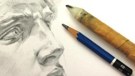 3D手绘教学, 手把手教你描绘一个立体的人侧脸, 活灵活现