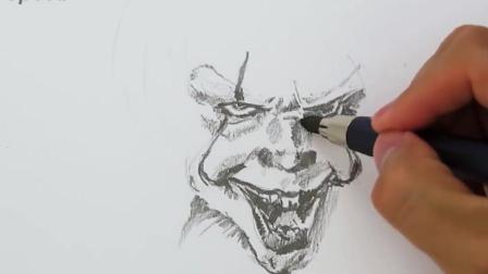 3D手绘教学, 手把手教你画一张立体小丑画, 活灵活现