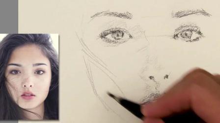 3D手绘教学, 手把手教你画一张漂亮的立体人脸像, 仔细看还很真实
