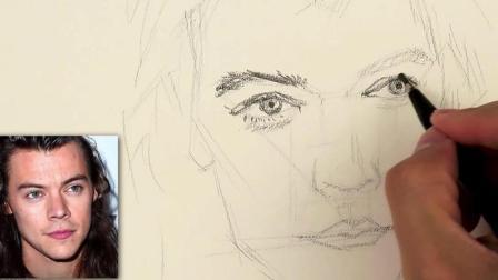 3D素描教学, 手把手教你绘制一幅人像, 只要几分钟