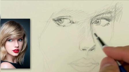 人物素描教学, 手把手教你画一张栩栩如生的女性面部