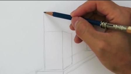 """3D素描教学, 手把手教你画一个真假难辨的""""金拱门"""""""