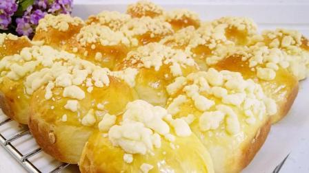 香软的面包加上脆脆的酥粒, 真是让人欲罢不能啊!