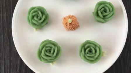 韩式裱花各种花朵图解 奶油裱花视频 生日蛋糕简单裱花视频