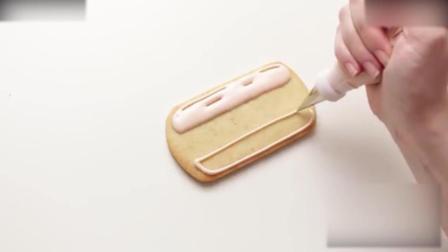 西点烘焙教程把饼干画成热狗, 看起来更有食欲了_1奶油制作