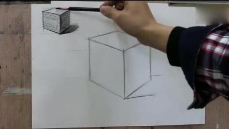 学习油画油画教程初学视频, 素描教程几何体, 最简单的油画教程视频丙烯画技法
