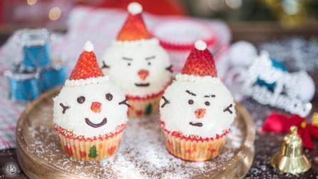 拾味爸爸 第一季 圣诞雪人杯子蛋糕 给孩子们一个不一样的惊喜!373