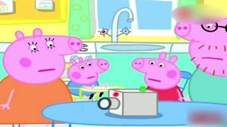 粉红色小猪: 猪爸爸太棒了, 神奇的摄像机让佩奇很好奇很激动