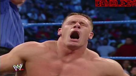 """""""不死小强""""约翰塞纳锁喉惹怒野兽大布, 被连续冲击撞顶坏腰!"""