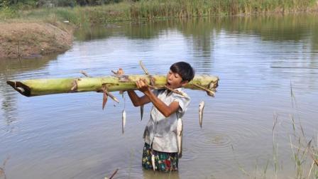 聪明男孩发明的无人自动钓鱼系统, 3个小时下去一看, 乐坏了