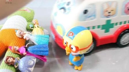 芭比娃娃心跳和身体? 小企鹅波鲁鲁的医生救护车! 亲子益智玩具故事