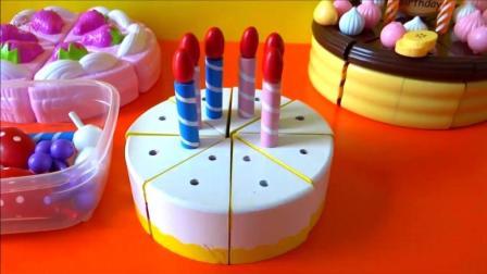 生日派对吹蜡烛许愿 蛋糕切切乐 亲子互动儿童过家家玩具