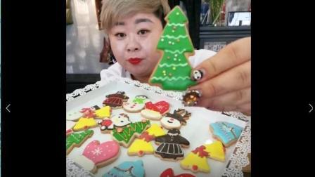 美食小吃货: 胖姐圣诞节吃圣诞树饼干