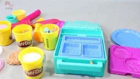 快乐亲子手工橡皮泥制作! 冰淇淋曲奇饼干 儿童玩具过家家