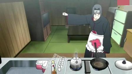 火影忍者: 鼬给佐助做早餐, 完美诠释强迫症患者的日常, 原来写轮眼是这么用