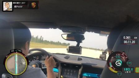 保时捷911 4s 加速, 双人测试3.9秒破百[机车小子实测】