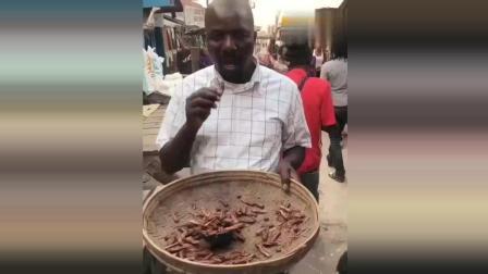 非洲人什么都吃, 广东人在他们面前都弱掉了, 蝗虫生吃敢不敢