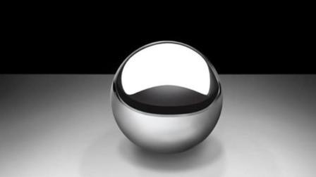 3D素描教学, 如何画一个立体铬球, 最难的还是亮部