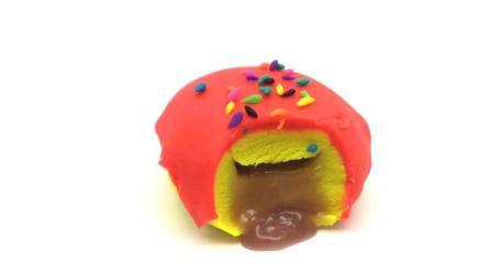 25 培乐多粘土 豆沙馅的面包 手工制作彩泥粘土玩具