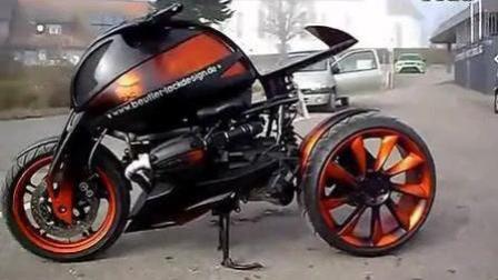 超级酷的改装摩托车, 我看了28遍都还没认出那个人是谁,
