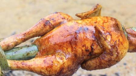 迟来的圣诞大餐, 烤鸡两小时, 吃鸡两分钟, 太爽了