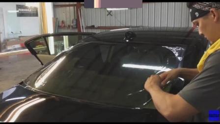 汽车贴膜 后风挡贴玻璃膜技术讲解教程