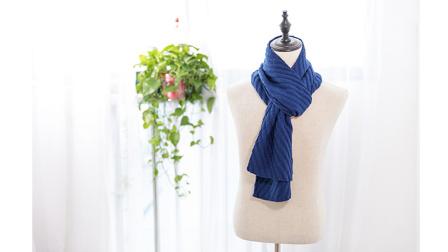 棉柔朵朵编织小屋  斜纹花围巾编织视频教程