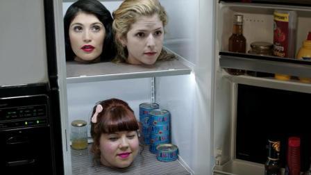 一部反应人性的恐怖片, 男子在冰箱放三个美女, 活人能与死人对话