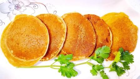 香蕉牛奶早餐饼, 不揉面不发面制作简单。孩子一次能吃5个