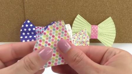 diy创意手工, 将烘焙纸做成漂亮的蝴蝶结书签