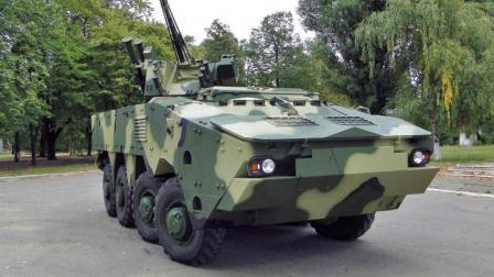 苏俄系BTR装甲车按北约路子改装 还真有那么点好看
