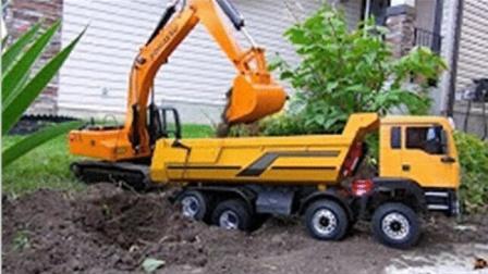 挖土机动画片 挖掘机工作视频 钩机工作视频 吊车视频表演  挖掘机视频表演大全