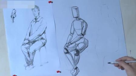 怎样画油画素描入门临摹, 人物动态速写教程图片, 绘画素描教程书基础素描