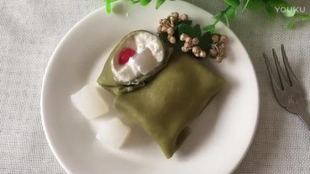 烘焙教程大全 椰子抹茶(班戟)热香饼的制作方法lx0 烘焙奶油打发视频教程