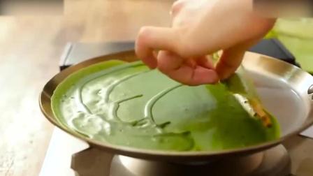 西点烘焙教程清新香甜的抹茶千层蛋糕, 喜欢可以试试哦! 做慕斯蛋糕
