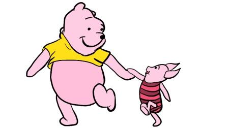 好听的儿歌: 找朋友+好朋友, 简笔画小熊维尼和小猪, 简笔画小动物, 育儿早教启蒙, 绘画教程