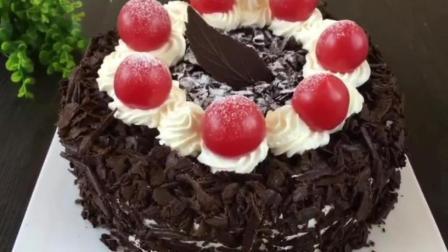 轻芝士蛋糕的做法 烘培培训班 生日蛋糕简单裱花