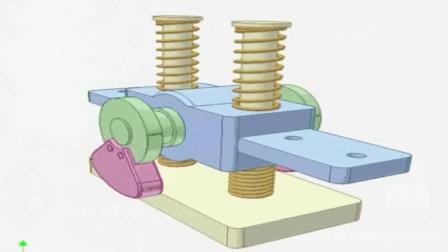 直观的机械原理 , 这样的偏心机构设计的真罕见, 看不懂了