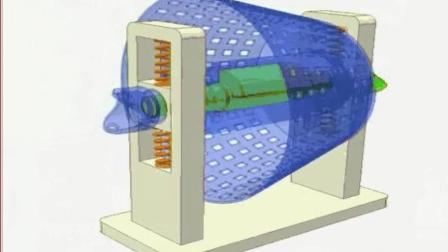 直观的机械原理, 这样的震动装置真少见, 看不懂了