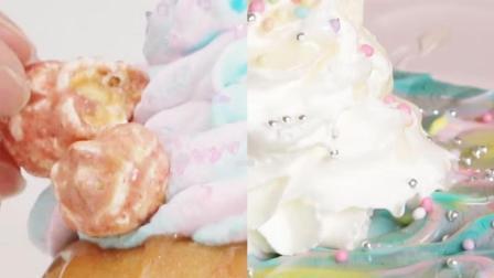 Ins风的独角兽小蛋糕, 五颜六色的颜值爆表, 好吃又好看