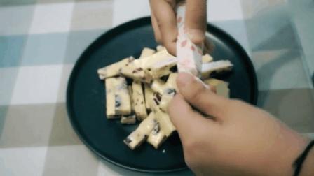 棉花糖版【花生蔓越莓牛轧糖】贼简单的小点心_在家做完后可以送给你喜欢的人