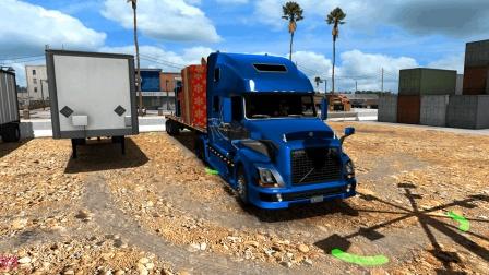 美国卡车模拟_1.29 (外部任务 沃尔沃vnl780)