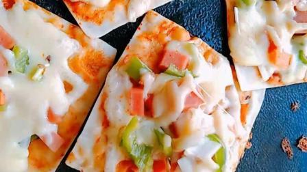 每天学做菜, 馄饨小披萨家常做法教学教程, 家里小朋友特爱吃!