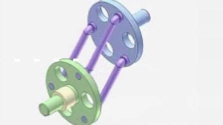 直观的机械原理, 这是一个平行四边形的旋转运动装置
