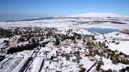 戈兰高地雪景空拍