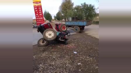 大众把拖拉机撞蒙了, 大众汽车的口碑真不是盖的啊