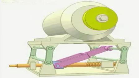 直观的机械原理, 这是一个皮带张紧器的工作过程