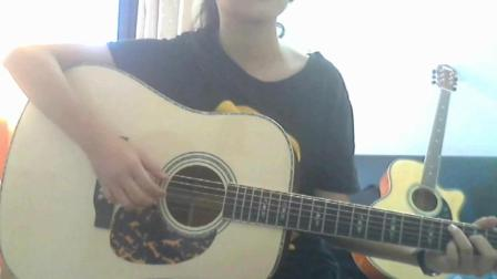 13岁吉他女学生 刚学吉他不久弹唱歌曲串烧 看下你都听过那首?